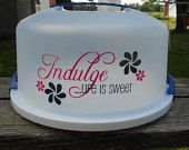 Monogrammed Cake Carrying Plate by MonogrammingbyTraci on Etsy, $29.95