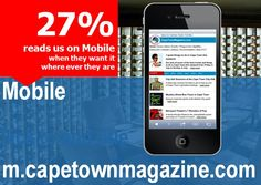Read all of us wherever you are.   http://m.capetownmagazine.com
