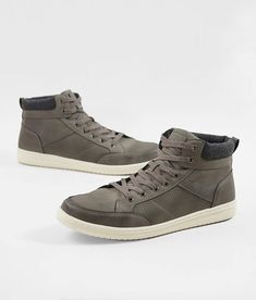 Jivana Mens Fashion Ankle Boots High Top Leather Sneaker Casual Shoes Lace-up for Men Blue//Brown