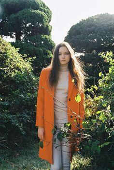 ihavenoidea.co.kr woman fashion orange coat