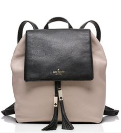 color block leather backpack