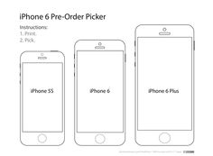 iphone 6 template these templates will help you decide which iphone 6 size is right