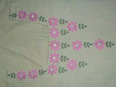 Kurti Embroidery Design, Blackwork Embroidery, Embroidery Neck Designs, Hand Embroidery Patterns, Embroidery Stitches, Machine Embroidery, Hand Embroidery Projects, Hand Work Embroidery, Embroidery For Beginners