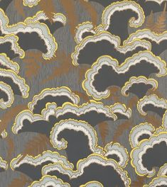 For between the builtins in the dining room? makelike (a shop) Lush Wallpaper : Dark Grey Dark Grey Wallpaper, Gold Wallpaper, Fabric Wallpaper, Eclectic Wallpaper, Charcoal Wallpaper, Hallway Wallpaper, Wallpaper Ideas, Pattern Wallpaper, Wallpaper Backgrounds