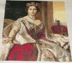 Queen Victoria cross stitch