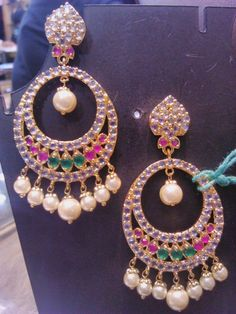 #nizam #jewelry #pearl #stones #earrings