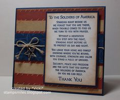 To the Soldiers by basement stamper - Cards and Paper Crafts at Splitcoaststampers