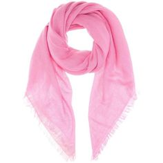 Jardin des Orangers Cashmere Scarf featuring polyvore, women's fashion, accessories, scarves, pink, pink scarves, cashmere shawl, jardin des orangers, pink shawl and cashmere scarves