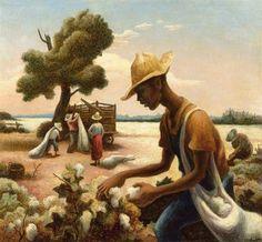 "Thomas Hart Benton - ""The Cotton Picker"", 1943, Great Depression, 1930s and American regionalist artist, (1889–1975)"