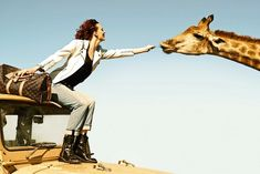 Karen Elson and a Giraffe Star in the New Louis Vuitton Campaign. not that i would ever buy it but this had me looking twice