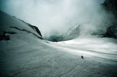 Glacier du Géant, Mont Blanc, France (an important scene from the novel takes place in a glacial field up on Mont Blanc just like this one.)