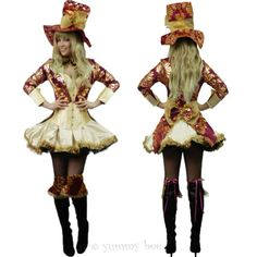 Mad-Hatter-Fancy-Dress-Ladies-Outfit-Size-6-8-10-12-14-16-Alice-in-Wonderland