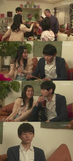 La familia Irie junto con el Sr. Aihara, celebran el avance de año de Naoki y Kotoko. Todo va bien hasta que la mamá de Naoki comienza a presionarlo para que vuelva a casa e insinuar sobre un futuro matrimonio entre él y Kotoko. Él comienza a incomodarse y Kotoko trata de ayudar diciendo que ella es muy joven para casarse, pero la Sra. Irie sigue insistiendo. Finalmente, Naoki decide irse, pero su padre le pide un minuto para conversar a solas - Itazura na Kiss Love in Tokyo Ep 12