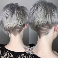 I love cutting short hair! Simple lines Thank you @hair.by_jess for letting me play! . . . . . . . #edensalonandbarbershop #barbershopconnect #licensedtocreate #undercut #hairtattoo #barberart #barberlove #shorthair #sexy #edgy #pixiecut #razorcut #haircut #stylistshopconnect #hairdesign #oster #babylisspro #ferrariclippers #gray #metallicsilver #alfaparfusa #pigmentsmaniaus #hairofinstagram