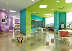 This is a high quality preschool interior design for kids , designed by 61 space design company in nanjing china , all what we design is for high quality learning. Interior Design Basics, Interior Design Institute, Interior Design Companies, Kindergarten Interior, Kindergarten Design, Daycare Design, Classroom Design, Nanjing, Space Preschool