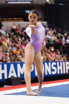 Laurie Hernandez is on her way to The Olympics in Rio Gymnastics Facts, Gymnastics Images, Gymnastics Posters, Artistic Gymnastics, Olympic Gymnastics, Gymnastics Girls, Gymnastics Floor, American Athletes, Female Athletes