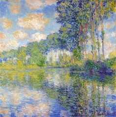 Claude Monet Poplars on the Epte, 1891 ... I will forever lovethe work of Monet...