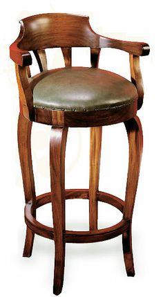 Taburete Bar Biedermier   Material: Madera de Caoba   Biedermier,Clasicos,Taburete... Eur:429 /