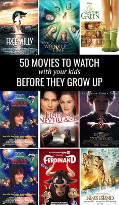 50 Movies To Watch With Your Kids Before They Grow Up - Love and Marriage One of my favorite memories I hope my kids always keep with them are our family movie nights. I adore … Netflix Movies To Watch, Movie To Watch List, Good Movies To Watch, See Movie, Movie List, Netflix Movies For Kids, Movies To Watch Teenagers, Disney Movies To Watch, Movie Night For Kids