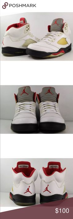 a1bcd4d61c3541 Nike Retro Air Jordan V 5 Sneakers Shoes sz Good condition with plenty of  wear left. No box included. Some dirt marks and scuff marks.