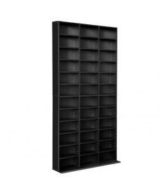 Adjustable CD DVD Book Storage Shelf - Black