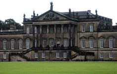 Wentworth Woodhouse is an enormous country house in South Yorkshire with 365 rooms, 1000 windows, and five miles of underground passageway. Wentworth Woodhouse, The Young Victoria, Georgian Mansion, English Countryside, English Manor, British Country, Country House Interior, South Yorkshire, Facade House