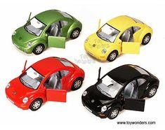 Kinsmart - Volkswagen New Beetle Hard Top (1/32 scale diecast model car, Asstd.) 5028D