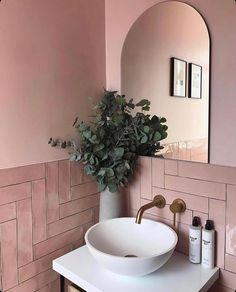 Home Interior Decoration .Home Interior Decoration Bathroom Red, Boho Bathroom, Small Bathroom, Pink Bathrooms, Bathroom Goals, Modern Bathroom, Master Bathroom, Bathroom Ideas, Bathroom Interior Design