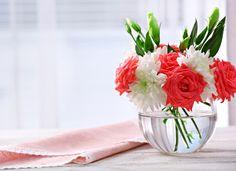 Róże, Chryzantemy, Bukiet, Wazon, Okno
