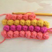 The puff or bobble crochet stitch. My favourite!
