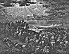 Gustave Dore Biblical Battle Scene Engraving print for sale. Shop for Gustave Dore Biblical Battle Scene Engraving painting and frame at discount price, ships in 24 hours. Cheap price prints end soon. Ancient Sparta, Jesus Tattoo, Gustave Dore, Biblical Art, Canvas Art, Canvas Prints, Angels And Demons, Bible Art, Fine Art America