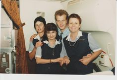 Christa Rosenkranz, Jeanette Abreu and SA ex President PW Botha's son and me on a charter flight to Geneva in 1996 Ex President, Geneva, Presidents, Sons, Life, Rosary Beads, My Son, Boys, Children