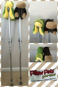 I am on crutches a lot. Over the years I have learned that if you don't have enough padding it can hurt your armpit. I got mini pillow pets and strapped them on! They have done wonders for me and I recommend them!! They also give your crutches a fun flair! Have fun!