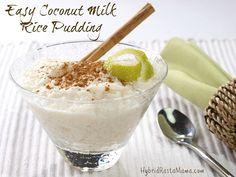 ➡️Arroz con leche de coco ¡Rico y diferente! Coconut Milk Rice Pudding, Easy Rice Pudding, Rice Pudding Recipes, Coconut Rice, Sugar Free Rice Pudding Recipe, Rice Puddings, Rice Milk, Pudding Desserts, Real Food Recipes