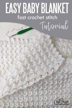 Baby Blanket Crochet 90179 Easy crochet baby blanket - free pattern for beginners; with our step-by-step instructions and video tutorial you can learn this easy crochet blanket stitch and quickly crochet this baby blanket using Bernat Baby Sport Yarn. Crochet Stitches For Blankets, Crochet Baby Blanket Free Pattern, Crochet Baby Blanket Patterns, Easy Crochet Baby Blankets, Crochet Baby Afghans, Knitting Baby Blankets, Simple Crochet Blanket, Crochet Baby Stuff, Free Crochet Afghan Patterns