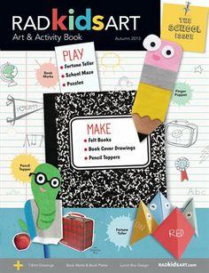 RADkidsART Art & Activity Book  'School Issue' Autumn 2013   HP, MagCloud