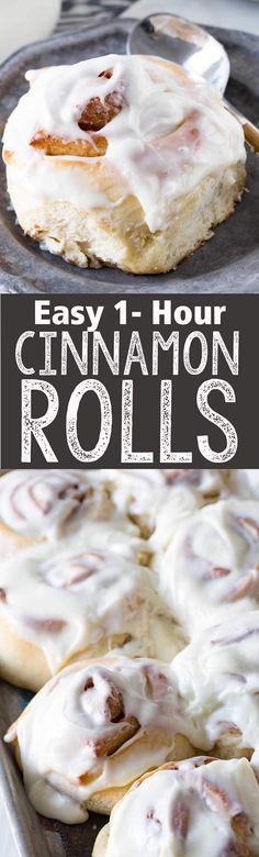 Easy 1 hour cinnamon rolls