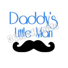 Daddy's Little Man svg dxf pdf studio png jpg by 3BlueHeartsDesign on Etsy