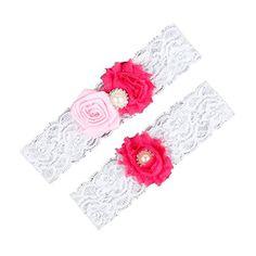Dreamlan Womens Lace Garters Multi Colors with Crystal Fuchsia Pink Dreamlan http://www.amazon.com/dp/B01AHZB3IA/ref=cm_sw_r_pi_dp_5rM1wb05C64KE