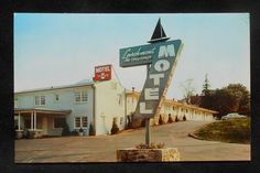 1950s Larchmont Motel Boston Post Road Sign Old Car Larchmont NY Westchester Co | eBay