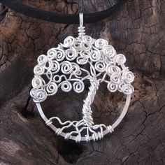 Love Tree of life pendant - Made to order- sterling silver - whimsical - With your personalized word - your choice