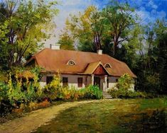 Cottages, Polish, Cabin, Drawing, House Styles, Google, Painting, Home Decor, Candy