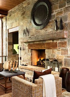 Isokern Fireplace by Resort Custom Homes in Greenville, SC