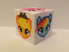 A personal favorite from my Etsy shop https://www.etsy.com/listing/265497630/my-little-pony-inspired-perler-bead-box