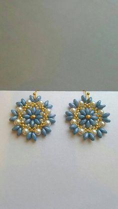 Handmade SuperDuo earrings by StellaBlauneDesign on Etsy