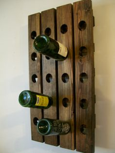 Small Original French Riddling Rack for 30 Bottles. A riddling rack cares for earthy pleasant atmosphere. Rustic Wine Cabinet, Rustic Wine Racks, Oak Wine Rack, Wine Rack Wall, Riddling Rack, Pallet Wine, Wine Cellar Design, Rustic French Country, Handmade Wall Hanging