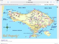 Complete Bali Road Map Bali Pinterest Weather forecast Bali