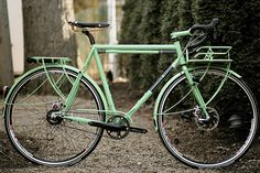 Shamrock Cycles bicycle. love the rear rack.