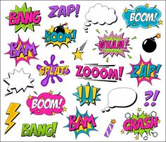 Superhero Girl Clipart Comic Book Clip Art Comic by YarkoDesign
