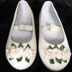 Buy Off White Flower Pageant Girl Dress Mary Jane Shoes Discount SKU-133033